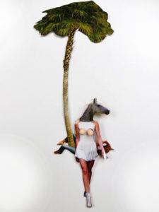 'Amazone palm', 3d collage, 2014, 35 x 45 cm