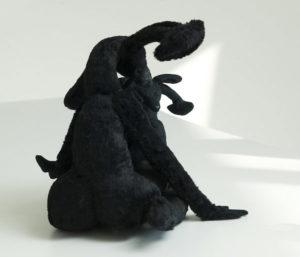 'Black couple', soft sculptures, 2007, 75 x 60 x 50 cm