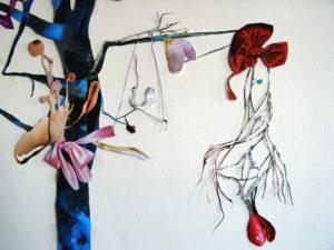 'Bluetree detail', collage, 2009, 250 x 150 cm
