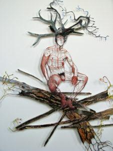 'Bushman 2', collage, 2009, 70 x 70 cm