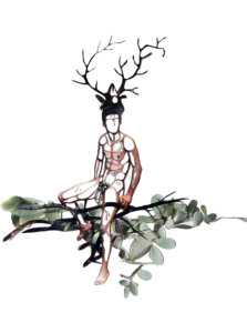 'Treeman tender', uit serie bushmen, collage, 2008, 40 x 50 cm