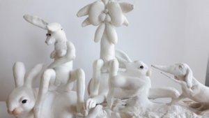 'White impression', soft sculptures, claymorfs, 2008, 45 x 25 x 12 cm