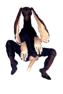 'Danny', soft sculpture, 2002, 50 x 55 x 45 cm