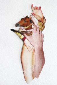 'Beloved horse', collage, 2020, 40 x 30 cm