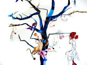 'Bluetree', collage, 2009, 250 x 150 cm