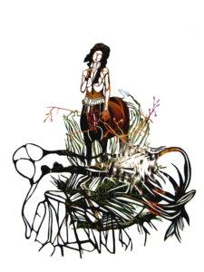 'Centaurwoman', collage, 2009, 60 x 60 cm