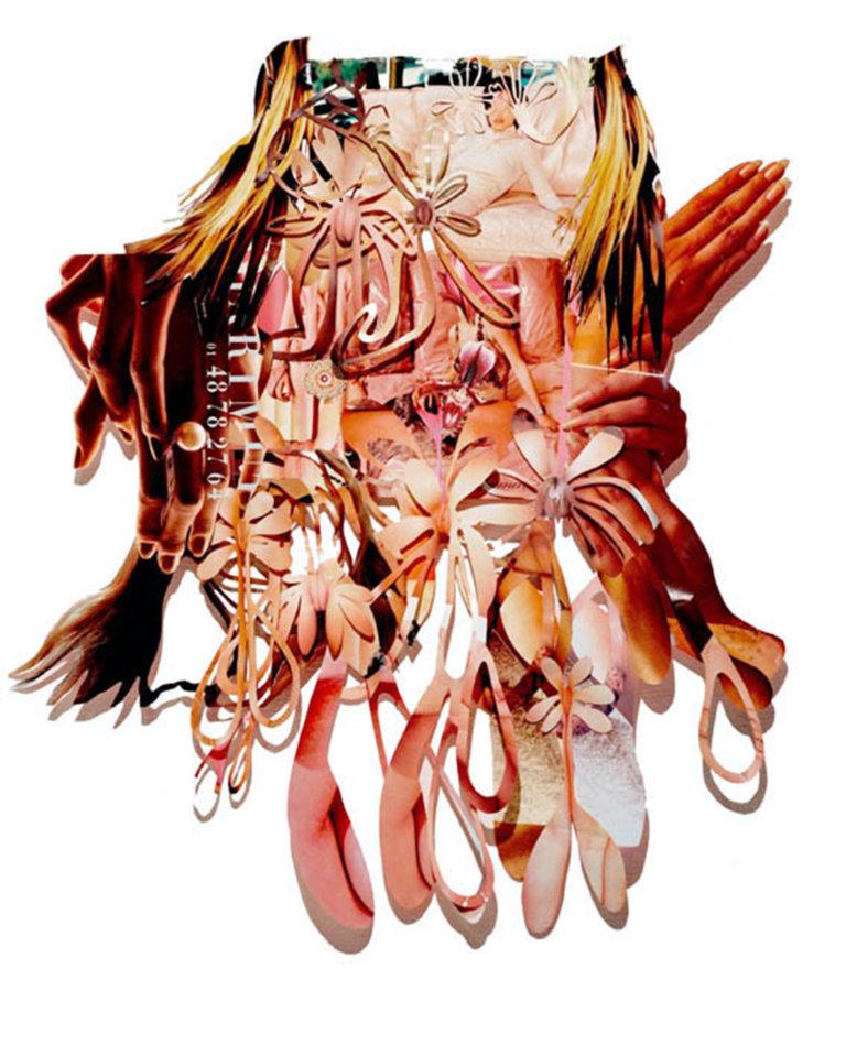 'Cascade', collage, 2001, 90 x 75 cm