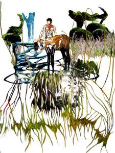 """Centaurmaninwild"", collage, 2007, 65 x 65 cm"