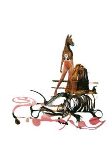 'Centaurwoman', collage, 2008, 50 x 45 cm