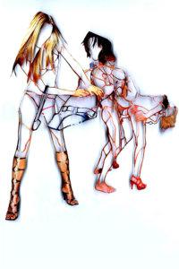 'Pornout with five', collage, 2008, 60 x 50 cm
