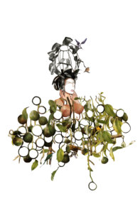 'Flora', collage, 2008, 40 x 50 cm