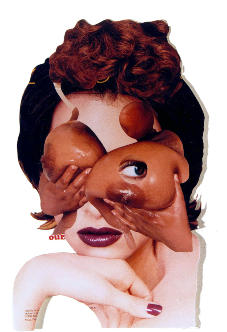 'Happy breasts', collage, 1996, 45 x 50 cm