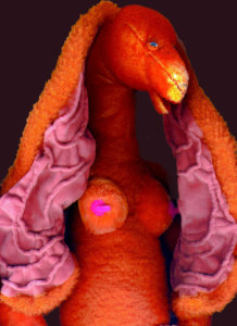 'Orange maria', soft sculpture, 2007, 70 x 60 x 50 cm