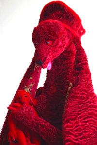 'Red maria', soft sculpture, 2005, 80 x 60 x 50 cm