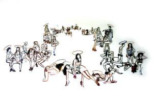 'Sacred halo', collage, 2005, 200 x 110 cm