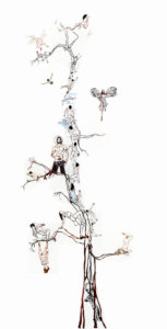 'Watertree', kantcollage, 2006, 250 x 100 cm
