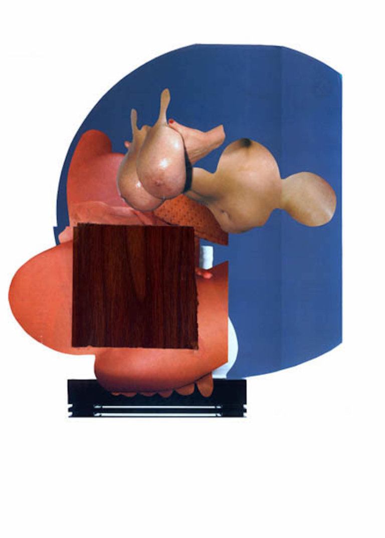 'Wooden breasts', collage, 1997, 50 x 60 cm