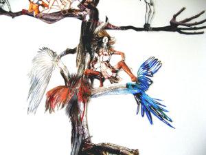'Aviatortree', detail girl, collage, 2006, 250 x 100 cm