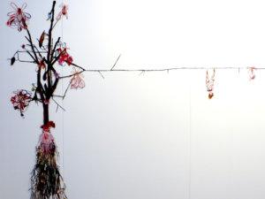 'Lingam tree', collage, temporary art r'dam, 2017, 350 x 250 cm