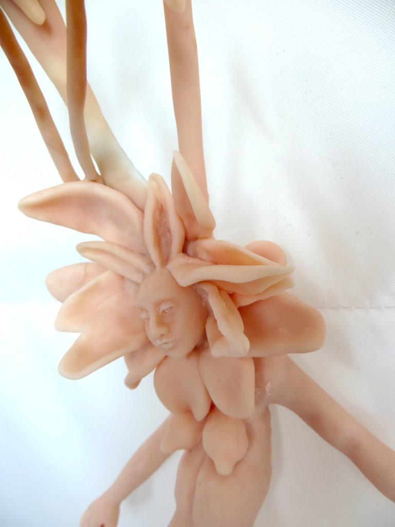 'Maria flower', claymorf, detail, 2013, 30 x 18 x 15 cm